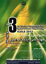 Poster of 3nd National Conference on Optic and Laser Engineering (ICOLE2013)