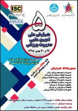 Poster of 5th National Conference of the Scientific Association of Sports Management of Iran