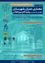 Poster of National Conference on Architecture, Civil Engineering, Urban Development and Horizons of Islamic Art in the Second Step Statement of the Revolution
