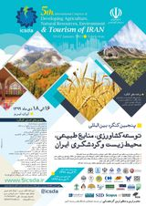 5th International Congress of Developing Agriculture, Natural Resources, Environment and Tourism of Iran