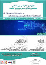 Poster of 4rd International Conference on Industrial Engineering, Productivity and Quality