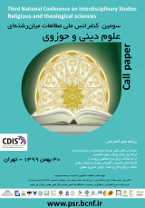 Third National Conference on Interdisciplinary Studies, Religious and Theological Sciences