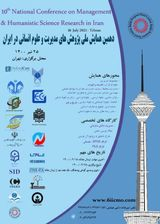 Poster of 10th National Conference on Management Research and Humanities in Iran